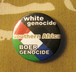 Spilla White Genocide & Boer Genocide. Pin006