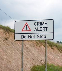 Crime alert - Do no stop